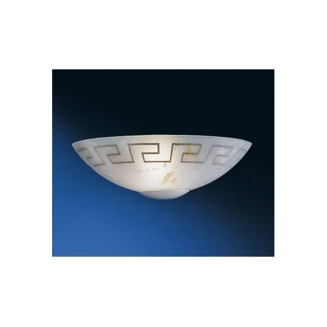 Eglo 82878 Twister 1 light traditional wall light marble effect glass greek style