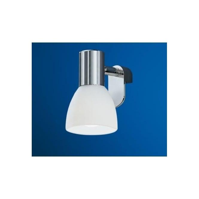 Eglo 85832 Sticker 1 light modern mirror light white frosted glass shade chrome finish