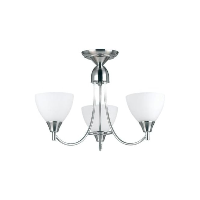 Endon 1805-3SC Alton 3 Light Ceiling Light Satin Chrome