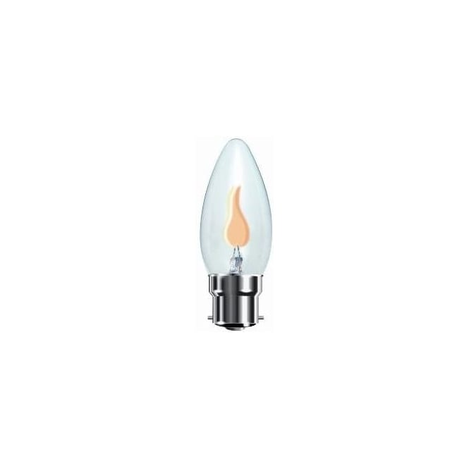 Bell 00444 BC/B22 flicker candle 35 mm clear 240 volt bulb