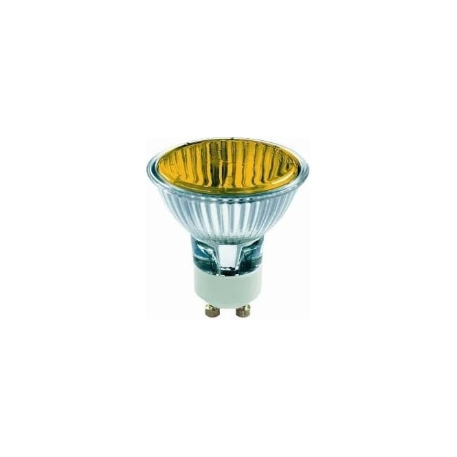 Bell 03879 50 mm Halogen Dichroic coloured 240 volt GU10 Amber 50 degrees wide flood beam bulb