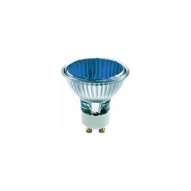 Bell 03880 50 mm Halogen Dichroic coloured 240 volt GU10 Blue 50 degrees wide flood beam bulb