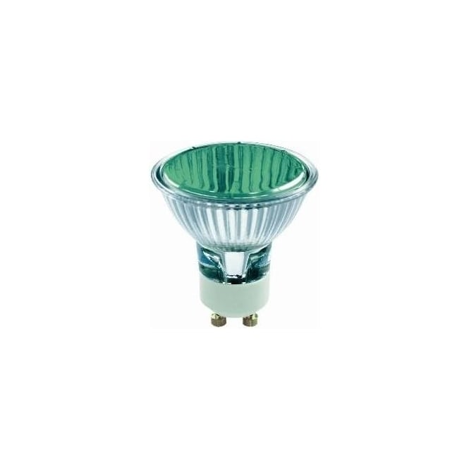 Bell 03881 50 mm Halogen Dichroic coloured 240 volt GU10 Green 50 degrees wide flood beam bulb