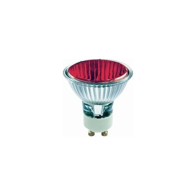 Bell 03882 50 mm Halogen Dichroic coloured 240 volt GU10 Red 50 degrees wide flood beam bulb