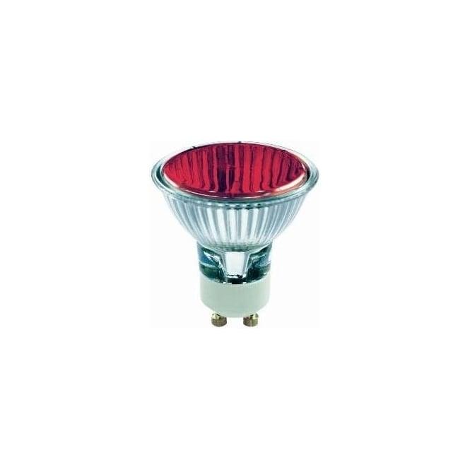 Bell 03882 50 mm Halogen Dichroic coloured 240 volt GU10 Red 50 degrees wide flood beam bulb