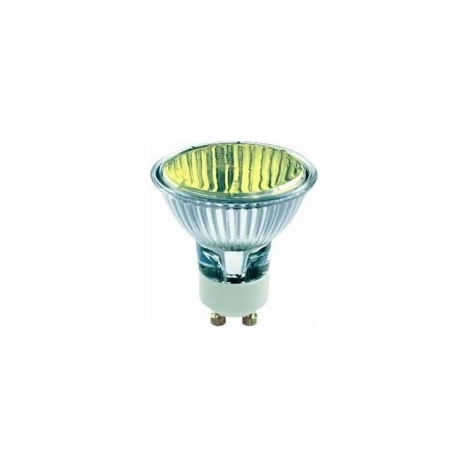 Bell 03883 50 mm Halogen Dichroic coloured 240 volt GU10 Yellow 50 degrees wide flood beam bulb