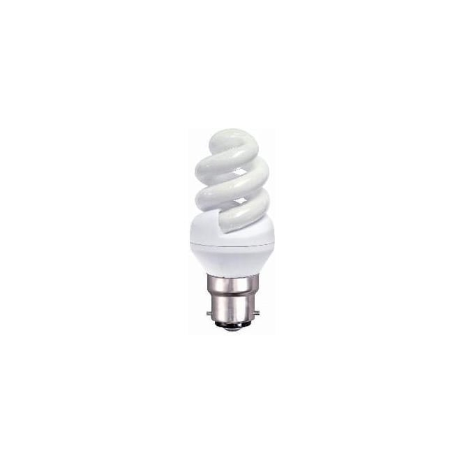 Bell CFL mini spiral low energy BC/B22 warm white bulb