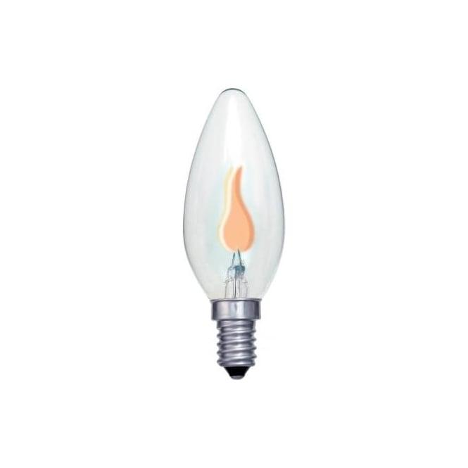 Bell 00442 SES/E14 flicker candle 35 mm clear 240 volt bulb
