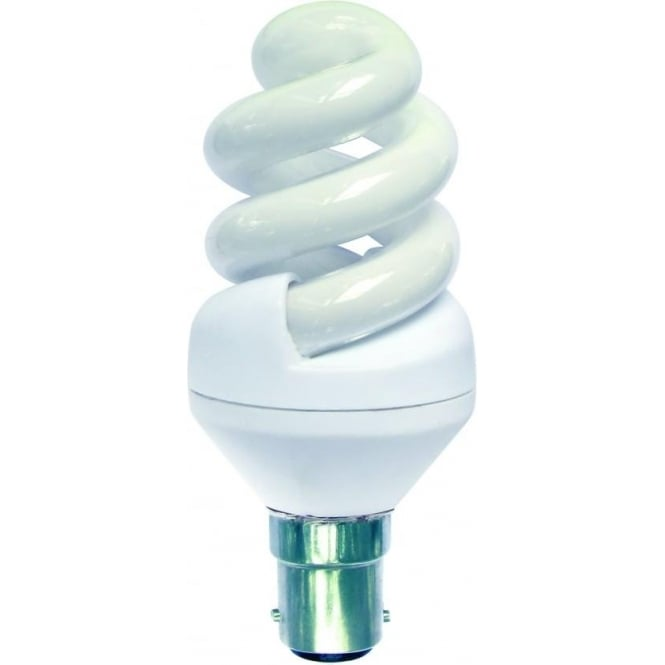 Bell CFL mini spiral low energy SBC/B15 warm white bulb