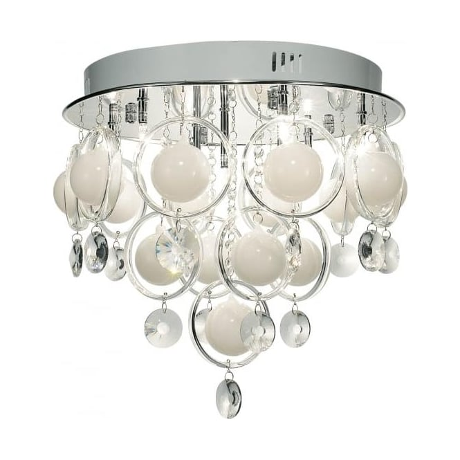 Dar CLO1350 Cloud 9 Light Ceiling Light Polished Chrome Finish