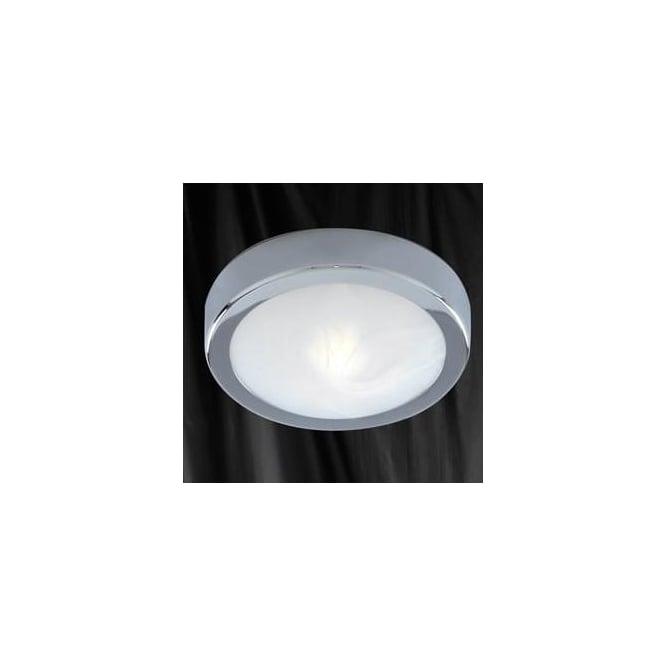 Searchlight 3109CC Bathroom Lights 1 Light Flush Ceiling Light Polished Chrome