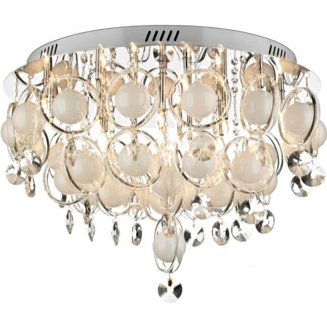 Dar CLO1850 Cloud 18 Light Modern Ceiling Light Polished Chrome Finish