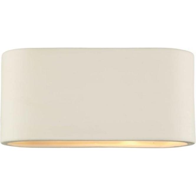 Dar AXT372 Axton 1 light modern wall light white ceramic finish (large)