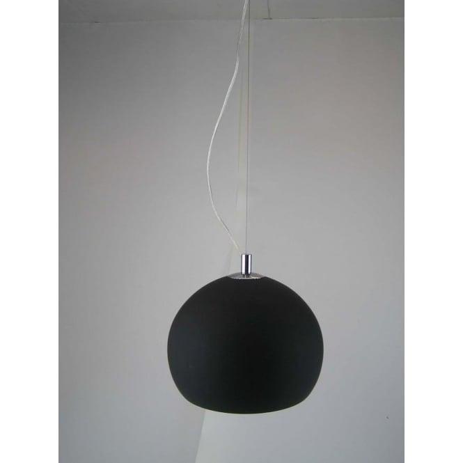 Retro Lighting LPENDELBLACK 1 light modern ceiling pendant black and polished chrome finish