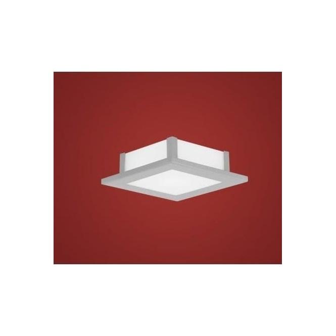 Eglo 86237 Auriga 1 light modern ceiling light flush opal and nickle matt finish (small)