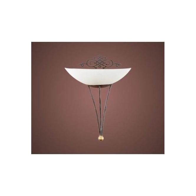 Eglo 86715 Mestre 1 light traditional wall light antique brown and gold finish