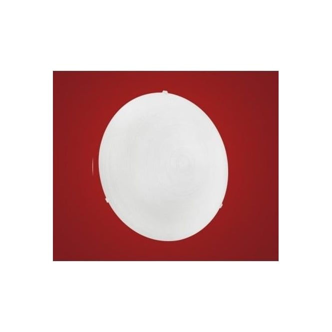 Eglo 90015 Malva 1 light modern wall/ceiling light nickel matt finish with glass shade (medium)