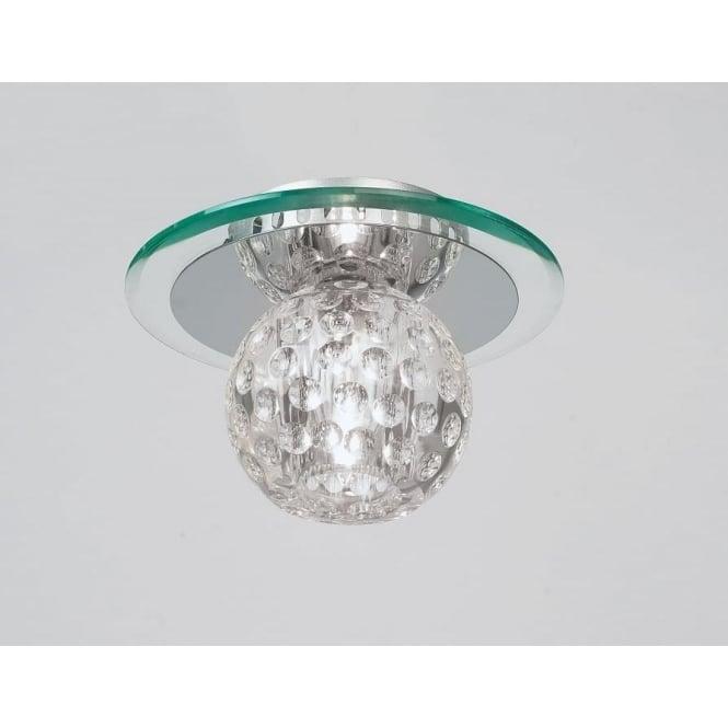 Endon 96471-CRY Tarota 1 Light Modern Flush Ceiling Light Chrome & Crystal Finish