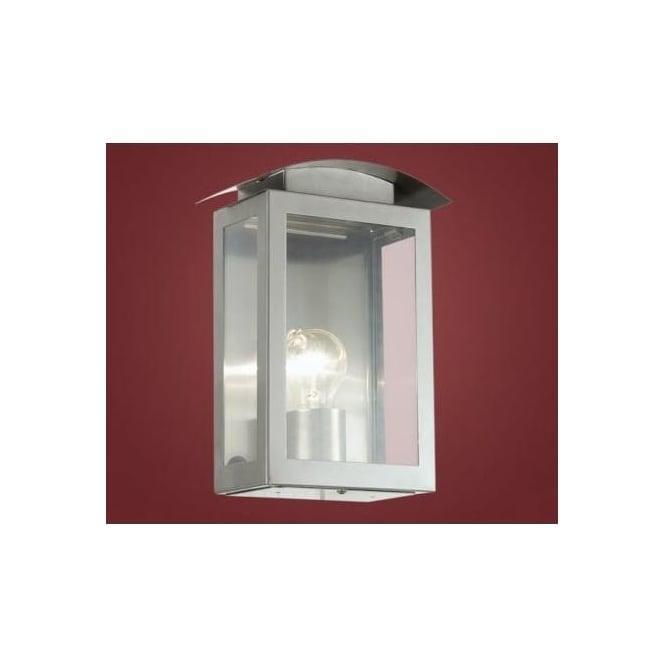 Eglo 91089 Baranello 1 light modern outdoor wall light stainless steel finish IP33 rated