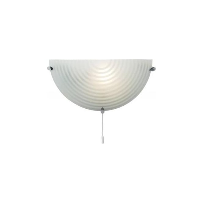 Endon 633-WB 1 Light Modern Wall Light Glass Shade (Switched)