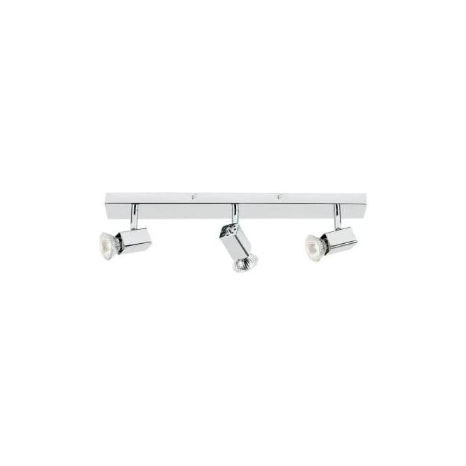 Endon EL-10048 3 light modern ceiling spotlight polished chrome finish (adjustable heads)