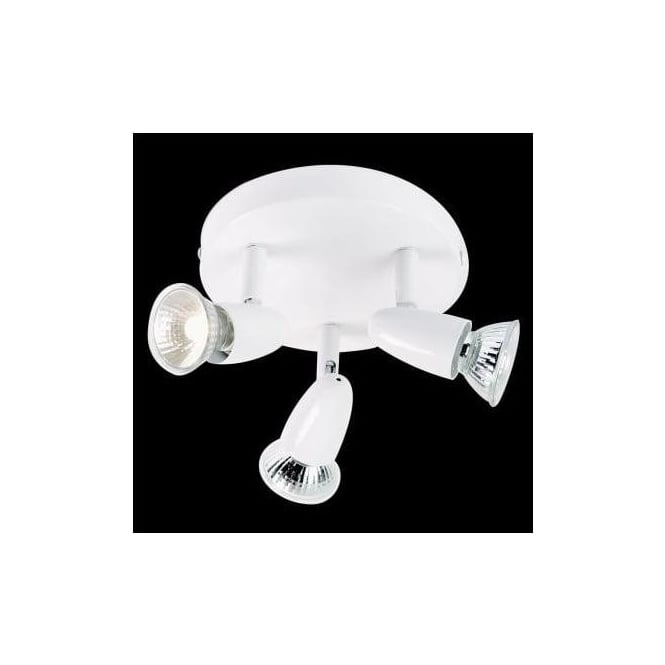 Endon EL-10044 3 light modern ceiling spotlight white finish (adjustable heads)