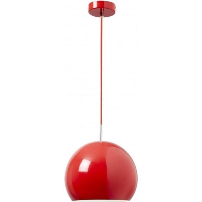 Endon ALZIRA-RE Alzira 1 Light Ceiling Pendant Red