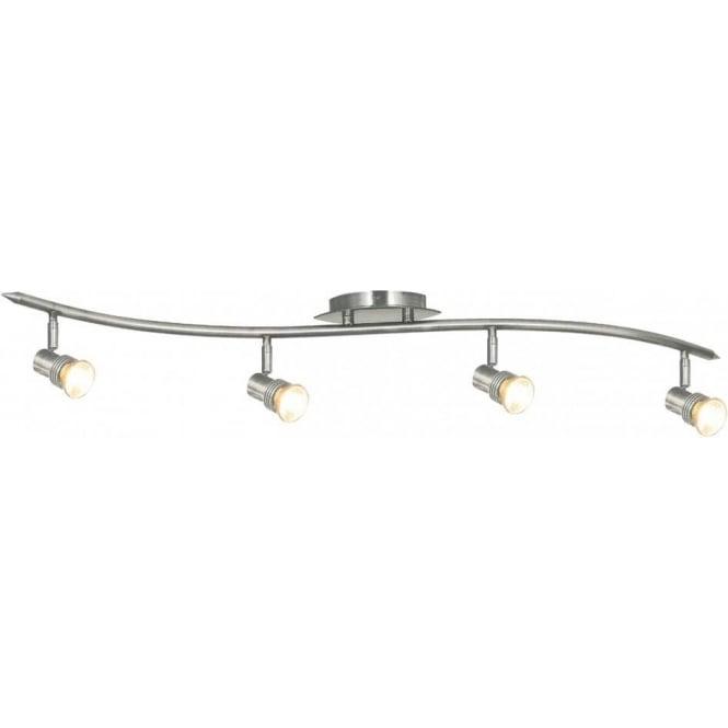 Searchlight P4333SS Decco 4 Light Ceiling Spotlight Satin Silver