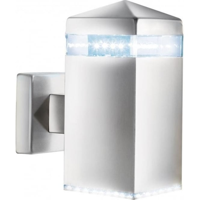 Searchlight 7205 LED Outdoor Lights 32 Light Modern Outdoor Wall Light Satin Silver Finish IP44 Rated