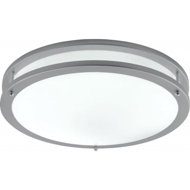 Searchlight 2119-40 Fluorescents 1 Light Flush Ceiling Light Grey
