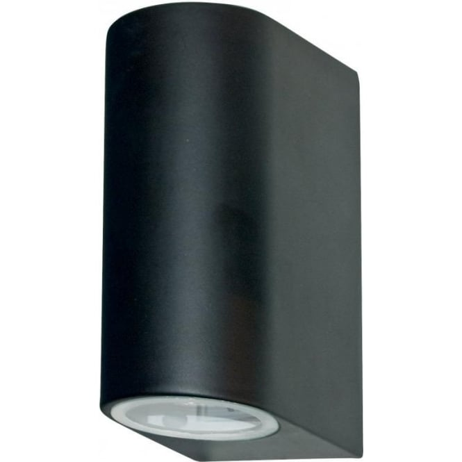 Searchlight 8008-2BK-LED Outdoor Lighting 2 Light Modern Outdoor Wall Light Black Finish IP44 Rated