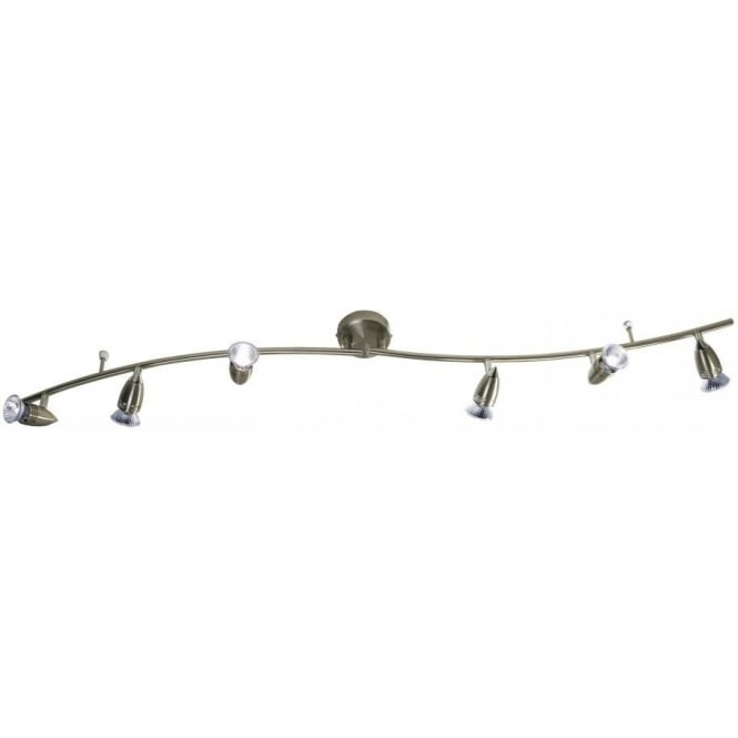 Dar GEM0675 Gemini 6 Light Ceiling Spotlight Antique Brass