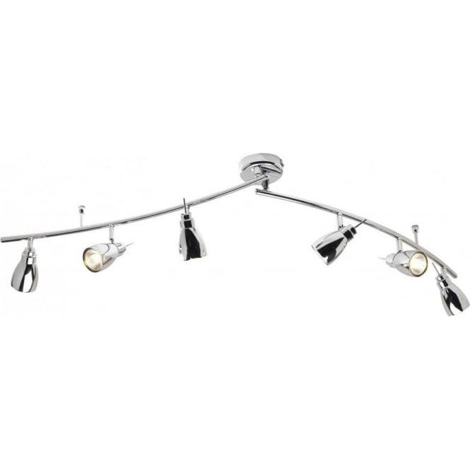 Dar HOU0650 Houston 6 Light Ceiling Swivel Spotlight Polished Chrome