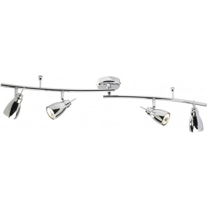 Dar HOU8450 Houston 4 Light Ceiling Swivel Spotlight Polished Chrome