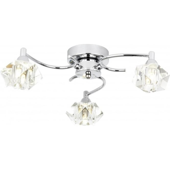 Endon ARIETTA-3FCH Arietta 3 Light Ceiling Light Chrome