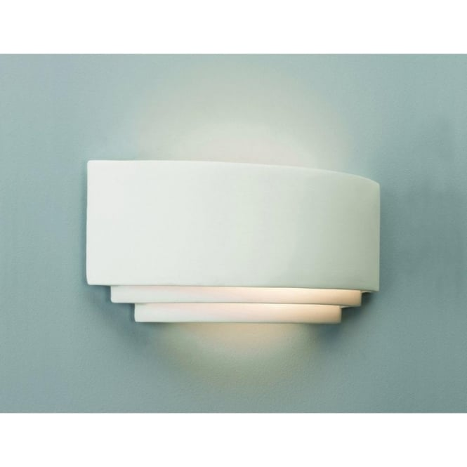 Astro 0423 Amalfi 1 Light Wall Light in Ceramic White