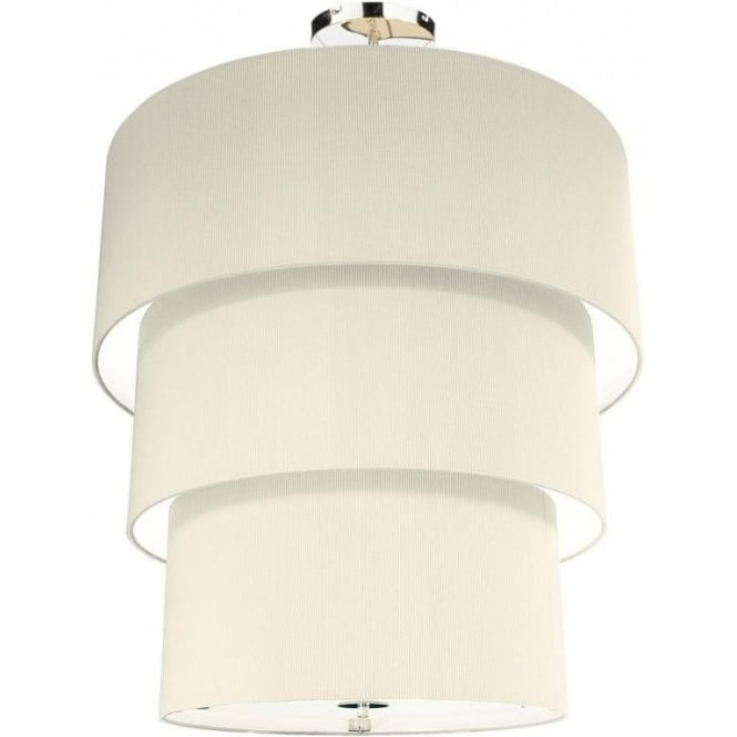 Dar ZAR2333 Zaragoza 3 Tier 12 Light Cream Ceiling Pendant