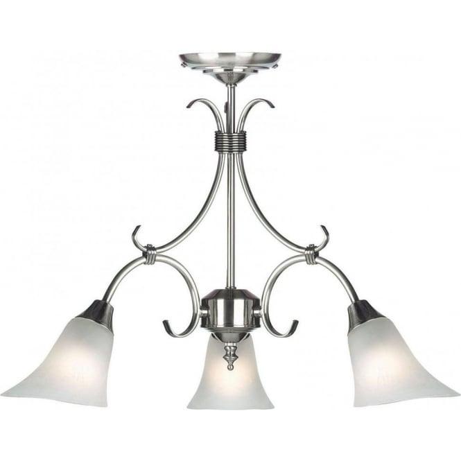 Endon 144-3AS Hardwick 3 Light Ceiling Light Antique Silver