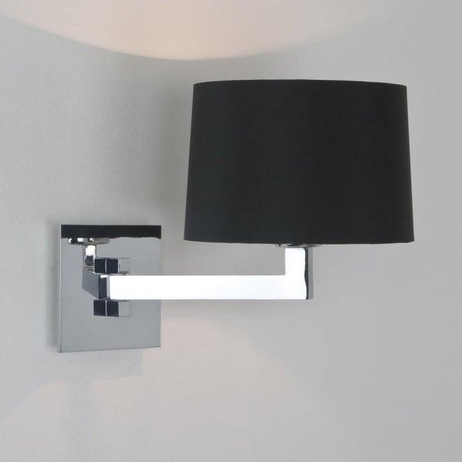 Astro 0995 Momo Single Wall Light Chrome with Round Shade IP44
