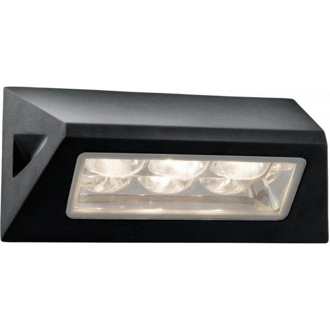 Searchlight 5513BK 3 Light Outdoor Wall Light Black IP44
