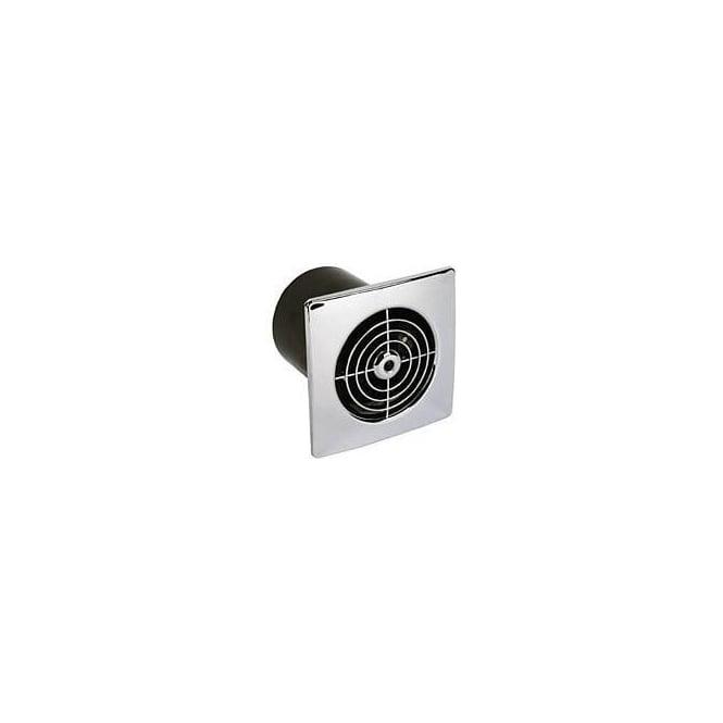 Manrose MLP100STC Bathroom/Shower/Toilet Timer Extractor Fan 100mm Chrome Finish