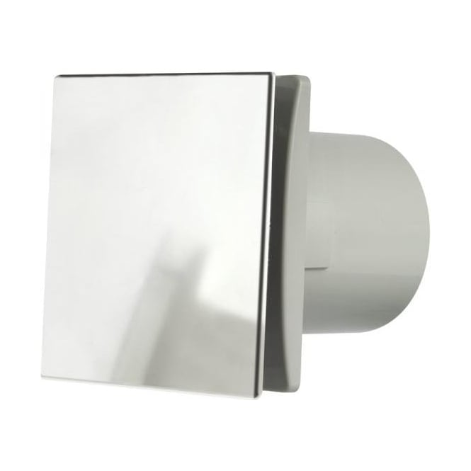 Manrose MDECO100TC Designer Bathroom Shower Toilet Timer Extractor Fan 100mm Brushed Chrome Finish
