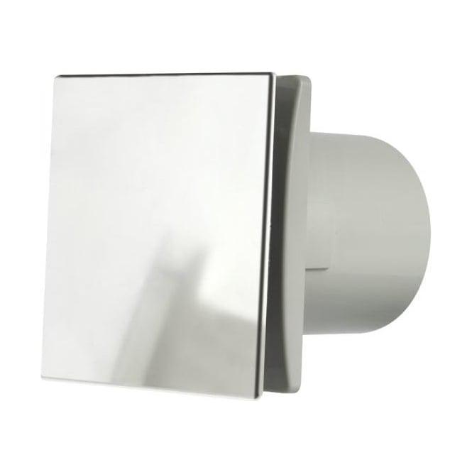 Manrose MDECO100SC Bathroom/Shower/Toilet Standard Extractor Fan 100mm Brushed Chrome Finish