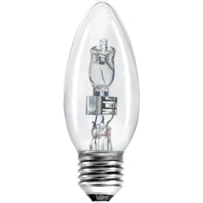 Bell ES/E27 35mm Energy Saving Clear Lamp Halogen Candle Bulb