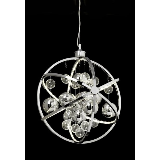 Endon MUNI-CH Muni LED Ceiling Pendant Polished Chrome