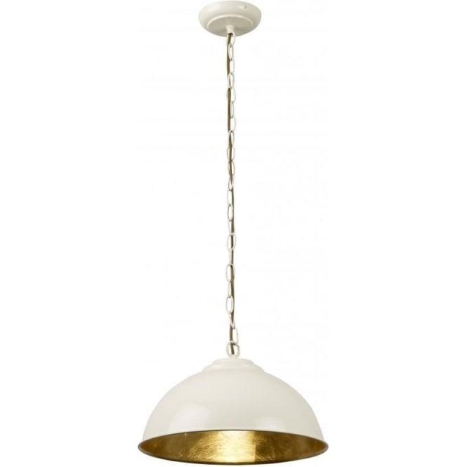 Endon COLMAN-CR Colman 1 Light Ceiling Light Cream