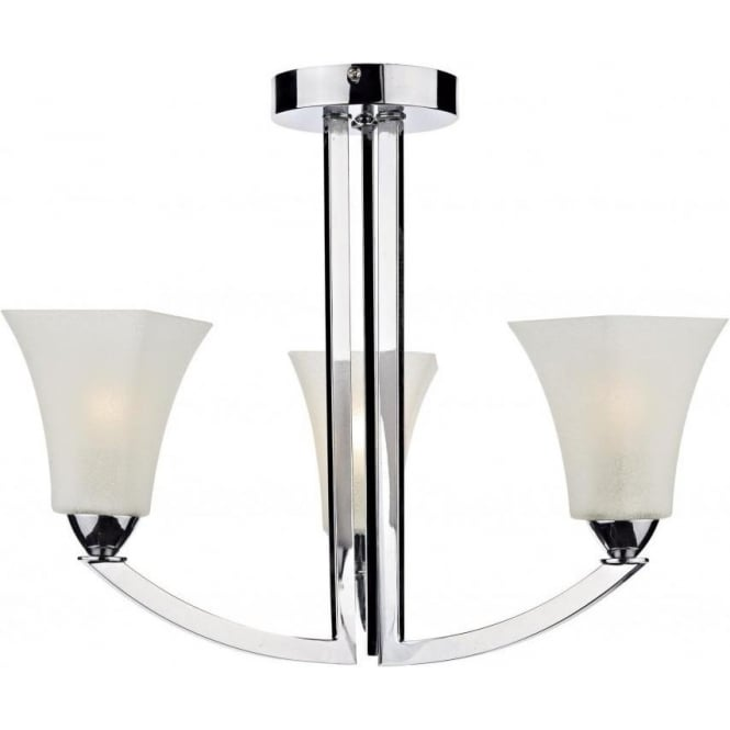 Dar ARL0350 Arlington 3 Light Ceiling Light Polished Chrome