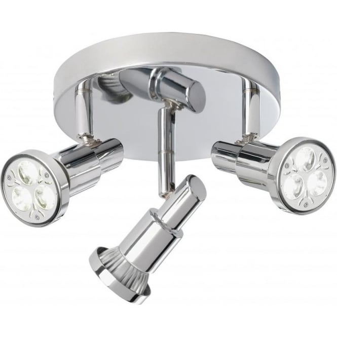Searchlight 5343CC Torch 3 Light Ceiling Spotlight Polished Chrome