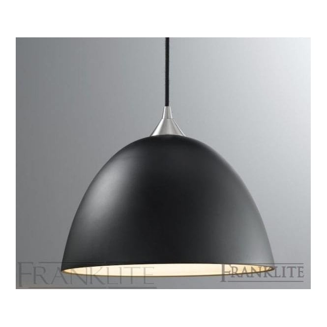 Franklite FL2290/1/931 Vetross 1 Light Ceiling Pendant Black/Gold