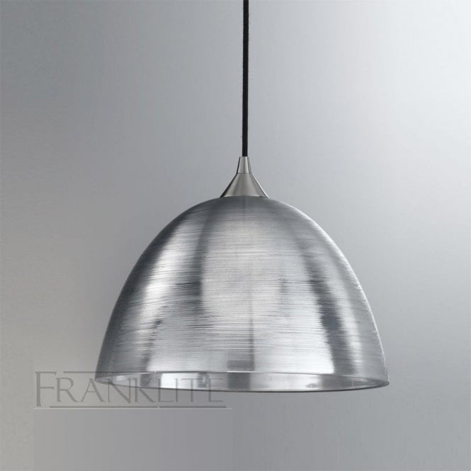 Franklite FL2290/1/928 Vetross 1 Light Ceiling Pendant Translucent Silver